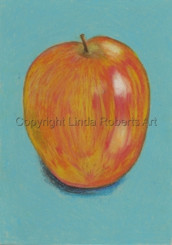 Apple (Oil Pastels)
