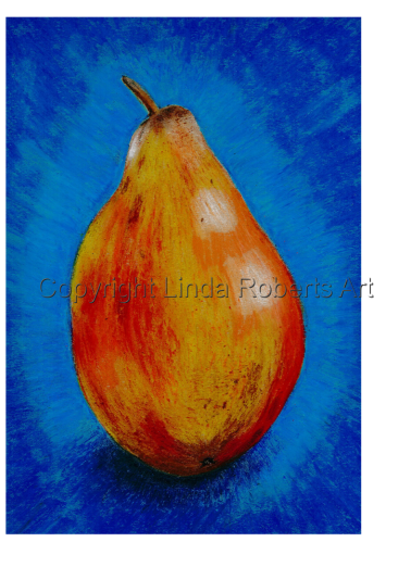 Pear (Oil Pastels)