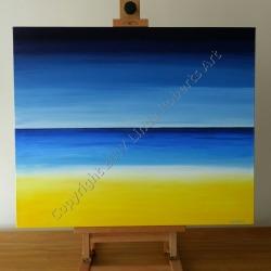 """""""Beach"""" in acrylics"""